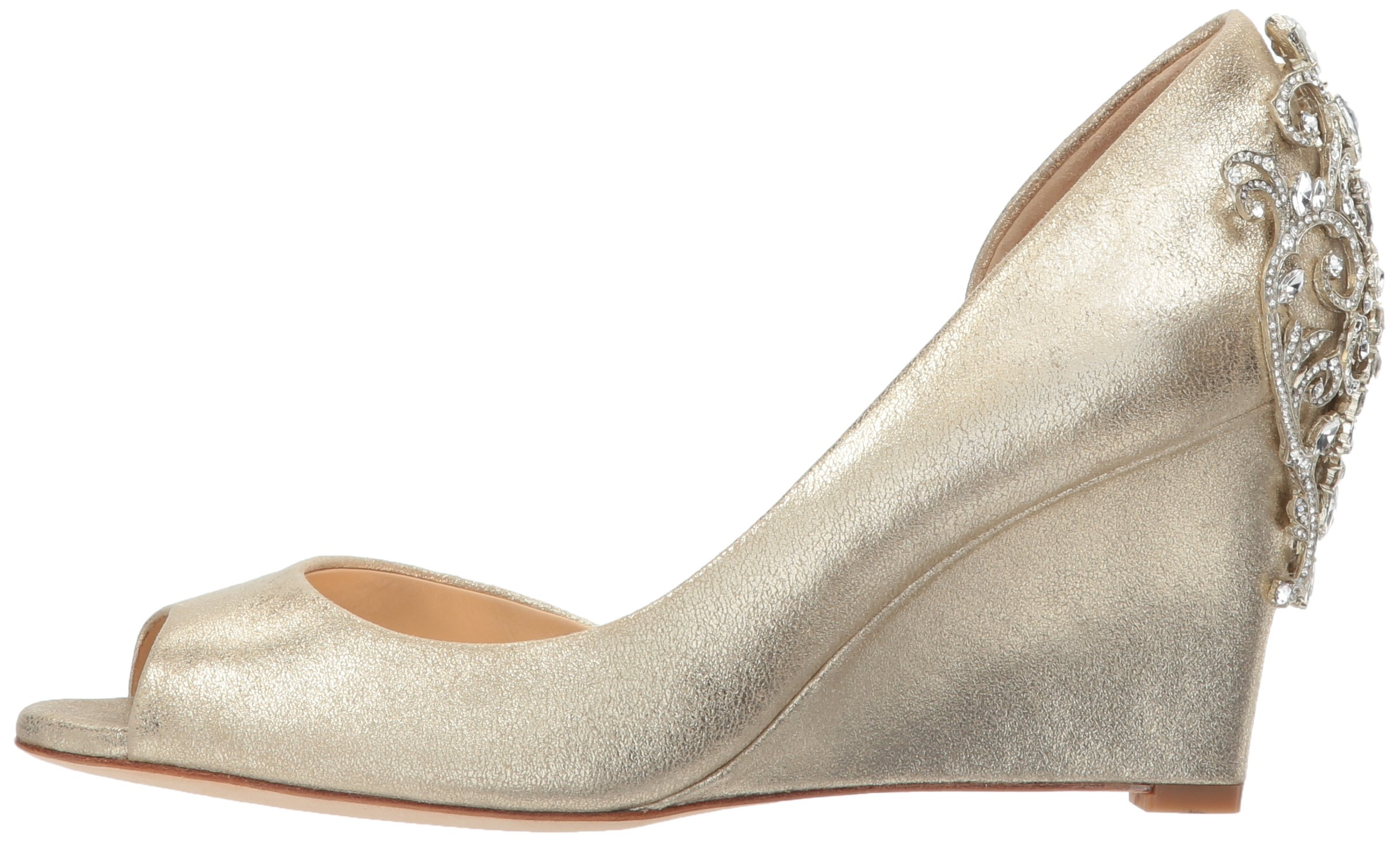 Badgley Mischka Women's Meagan II Pump, platino_929, 7 M US by Badgley Mischka (Image #5)