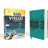 NIV, Kids' Visual Study Bible, Leathersoft, Teal, Full Color Interior: Explore the Story of the Bible---People, Places, and History