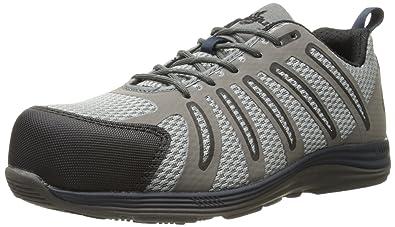 NAUTILUS Men's 1747 Comp Fiber Toe Safety Shoes, Grey, Wide