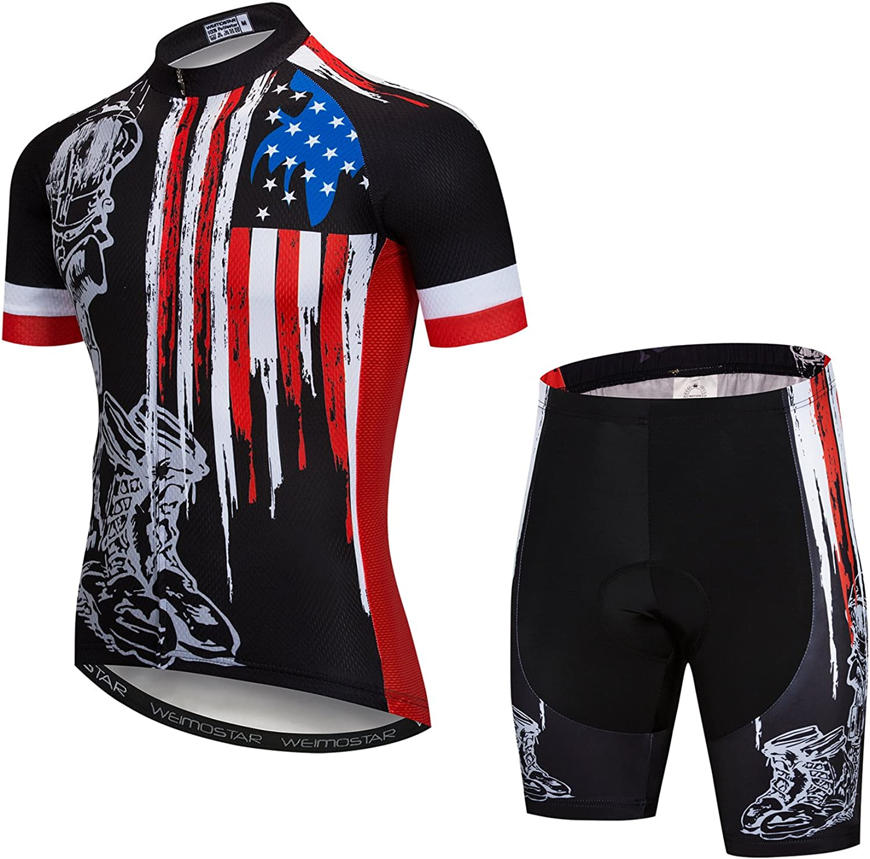 2020 Men Summer Team Cycling Jersey Bib Shorts Set Bike Outfit Bicycle Uniform
