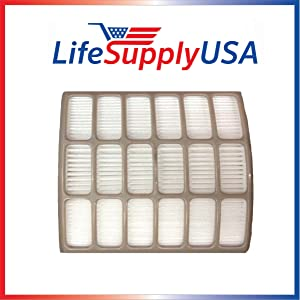 LifeSupplyUSA HEPA Filter Compatible with Shark Navigator Professional NV60 NV70 NV71 NV80 NV90 NV95 UV420 Vacuum Cleaners, Part XHF80