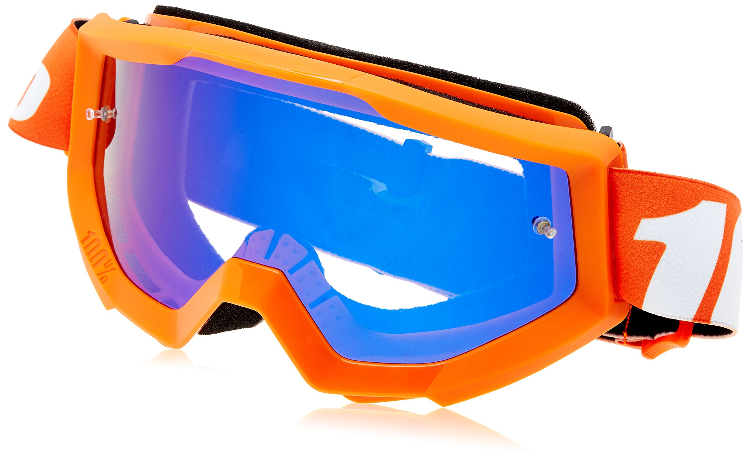 100% STRATA Goggles Orange - Clear Lens, One Size