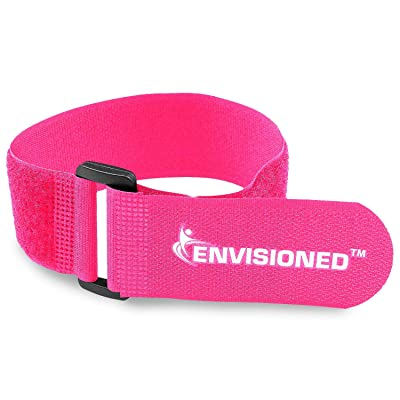 "Reusable Cinch Straps 2"" x 72"" - 2 Pack - Hook and Loop Straps (Neon Pink): Industrial & Scientific"