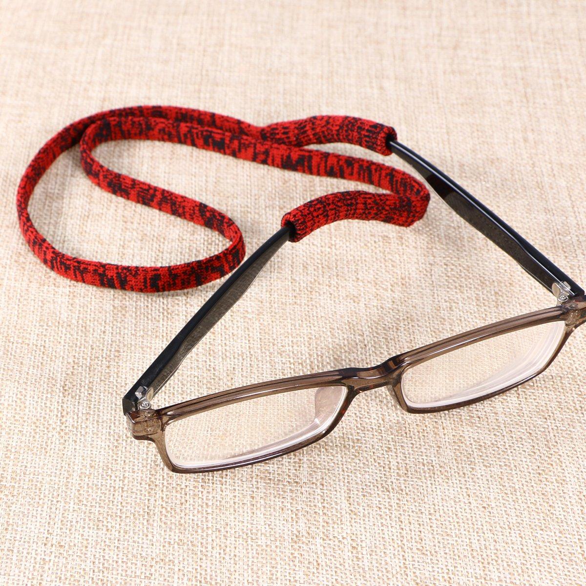 ROSENICE Cinghia per Occhiali Sport Nastro per occhiali sportivi in diversi colori 5 pezzi