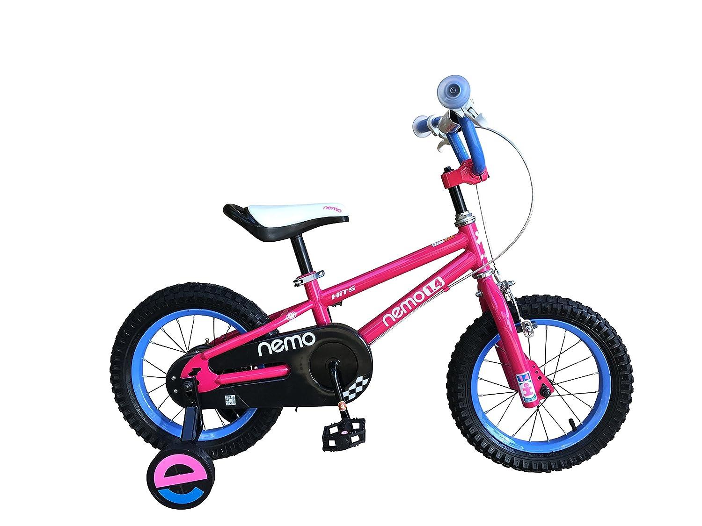 HITS(ヒッツ) Nemo 子供用 自転車 フロントキャリパーブレーキ リア バンドブレーキ 児童用 バイク ハンドブレーキモデル 14インチ 16インチ 男の子にも女の子にもぴったり 3歳 4歳 5歳 6歳 7歳 8歳 9歳 B06XPXMX1Mピンク 16インチ