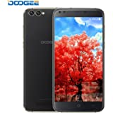 SIM Free Mobile Phones, DOOGEE X30 Unlocked Dual SIM Phone, Android 7.0 5.5 Inch IPS HD Smartphones with 2GB RAM + 16GB ROM - Mali 400 525MHz - Dual 5.0MP Front Cameras + Dual 8.0MP Rear Cameras - 3360mAh - Black