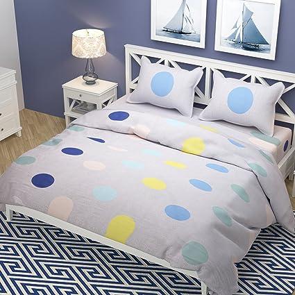 Amazon Com Kritarth Handicrafts Grey Color Circle Design Queen Size