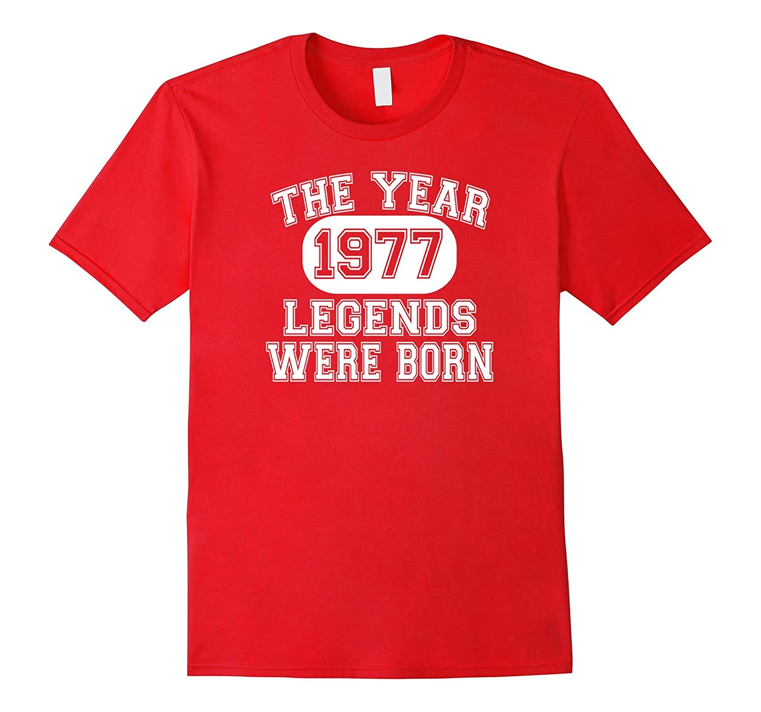 40th Birthday T Shirt 1977 The Year Legends Were Born-CD
