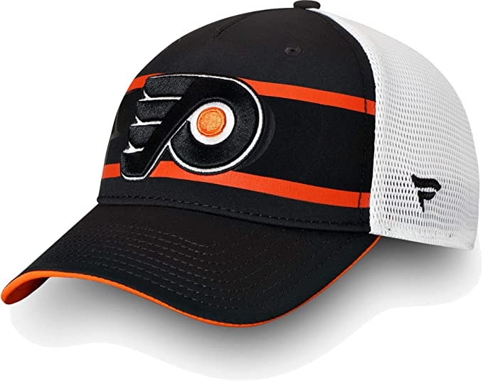 a7a612f7 Amazon.com: Football Fanatics NHL Mens Philadelphia Flyers Second Season  Black Trucker Hat(OneSize): Sports & Outdoors