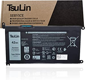 TsuLin YRDD6 Laptop Battery Replacement for Dell Inspiron 5481 5482 5485 5491 2-in-1 5493 5584 5593 5590 Vostro 5481 5581 5490 5590 Series Notebook VM732 0VM732 01VX1H 1VX1H 11.4V 42Wh 3500mAh