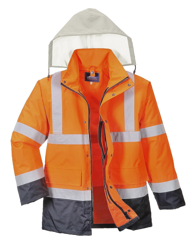 Giallo//Nero Portwest H444 Pantalone Classic Anti Pioggia Alta Visibilit/à 4XL Bicolore
