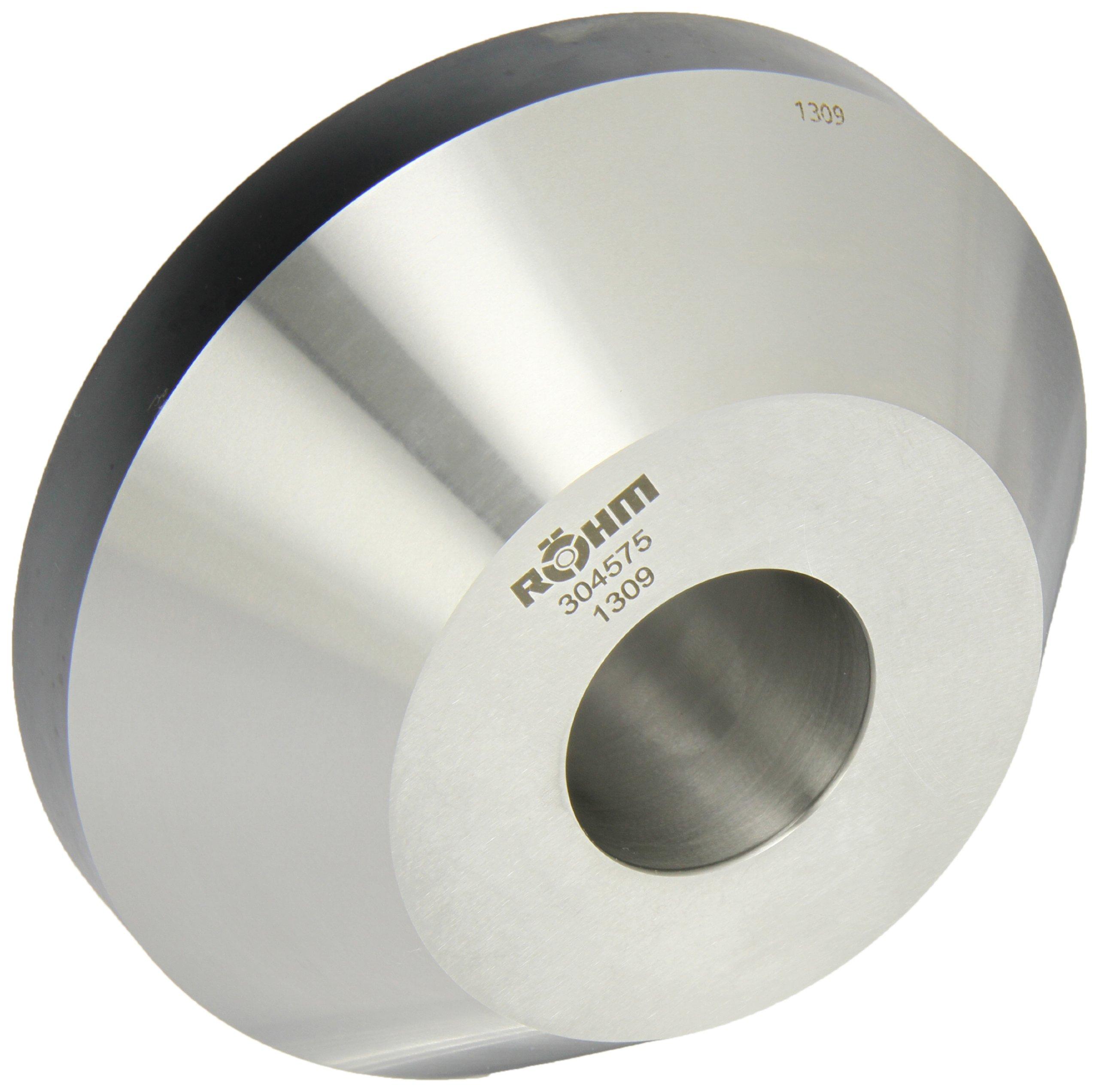Röhm 304575 Type 608-20 Centering Insert AZ with 75 Degree Taper for Morse Taper 6, Standard Version, Size 1, 150mm Body Diameter, 54mm Length