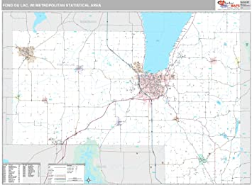 Fond Du Lac Zip Code Map.Marketmaps Fond Du Lac Wi Metro Area Wall Map 2018 Zip Codes