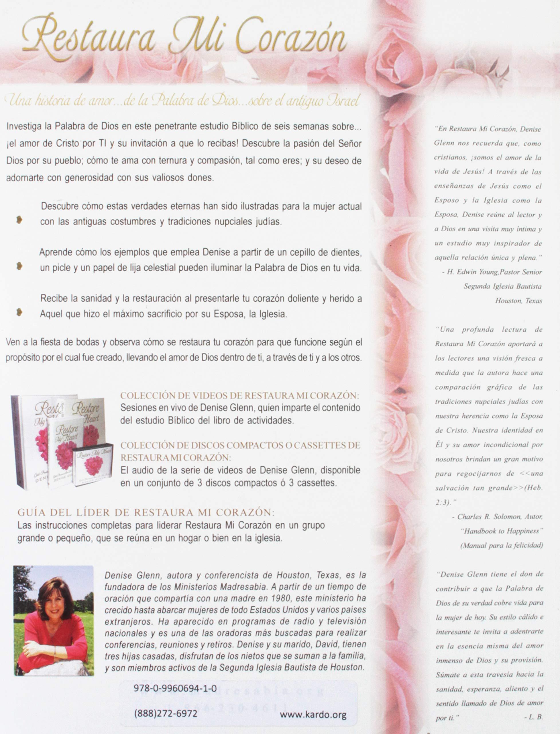 Restaura mi corazón (Spanish Edition): Denise Glenn: 9780996069410: Amazon.com: Books