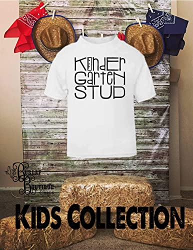 Amazon com: Handmade Kids, Boys, Tee, Kindergarten STUD T - Shirt