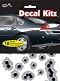 """Chroma 5310 Decal Kitz Black/Silver 6"""" x 8"""" Bullet Holes Self-Adhesive Decal Kit (18 pieces)"""