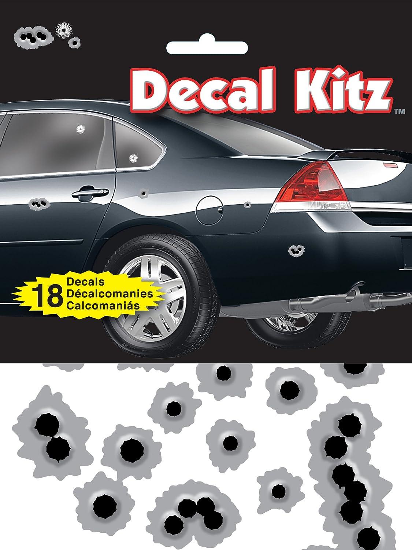 Chroma 5310 Decal Kitz Black/Silver 6' x 8' Bullet Holes Self-Adhesive Decal Kit (18 pieces) Chroma Graphics