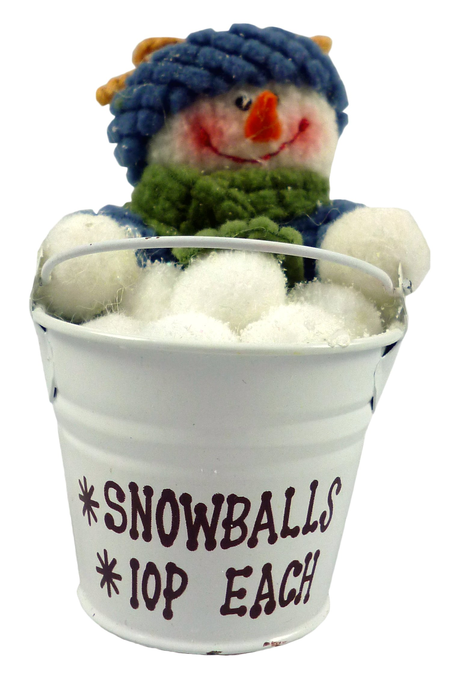 Christmas Concepts 4 Inch Snowman Pail Hanging Christmas Tree Decoration - Snowman in Metal Bucket Christmas Decoration - Unique Christmas Decorations