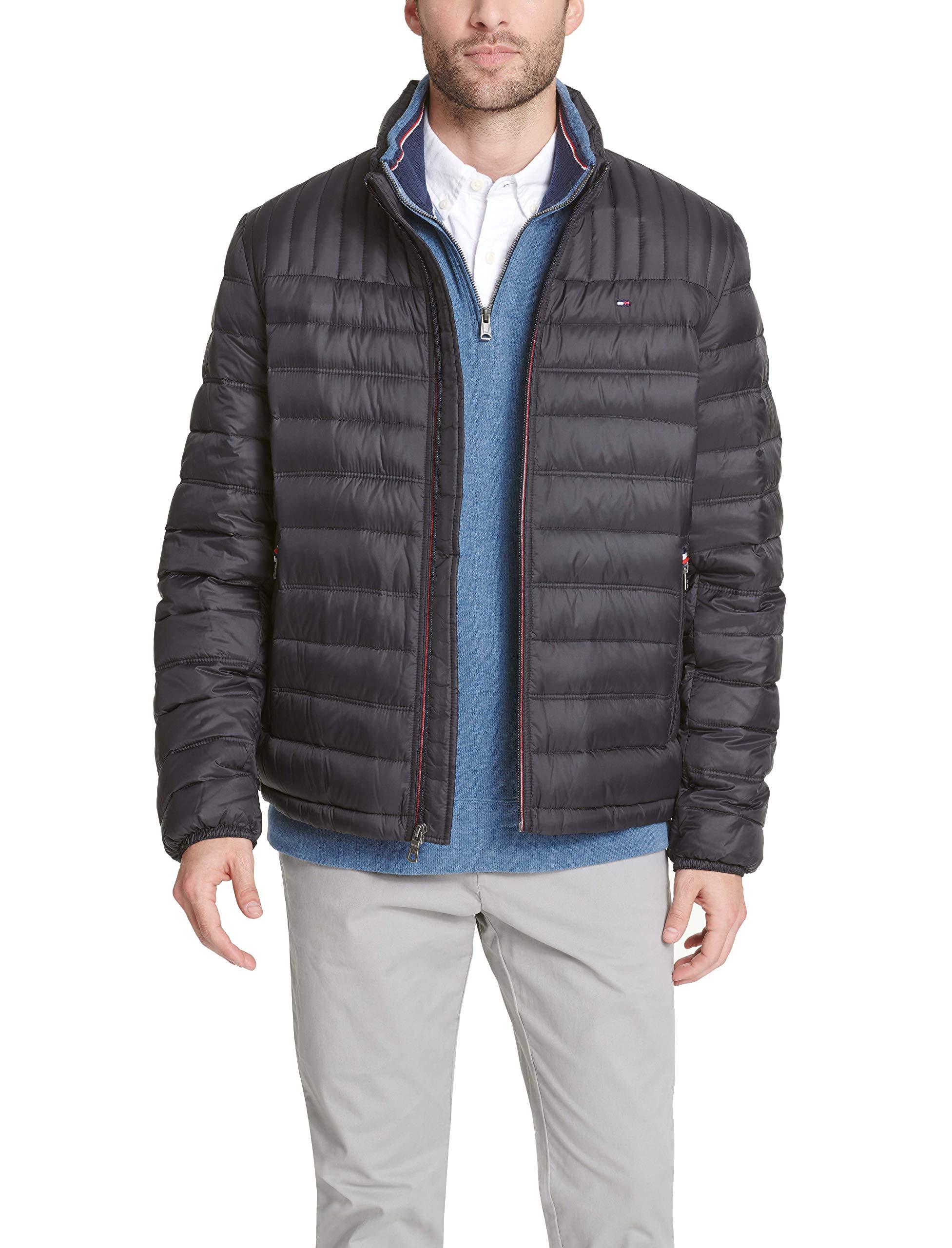 Tommy Hilfiger Men's Ultra Loft Packable Puffer Jacket, Black, Medium
