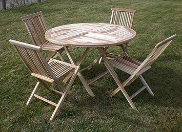 Salon de jardin en teck et chaises de jardin bois salon ...