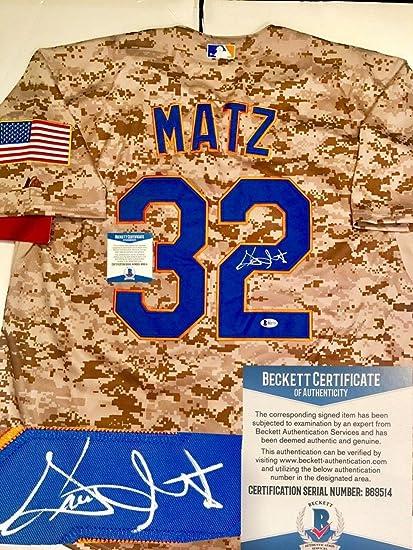 watch af263 5815b Autographed Steven Matz Jersey - CAMO Beckett Cert - Beckett ...