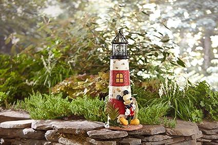 Decorative Home Garden Decor Rock 32.5u0026quot; LIGHTHOUSE Statue FEATURING  DISNEY MICKEY MOUSE   Landscape Cute