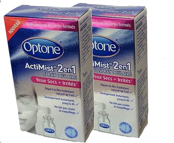 OPTONE ACTIMIST 2en1 Solution OCULAIRE Yeux Secs + Irrités - Lot de 2 x 10ml  YS  Amazon.fr  Hygiène et Soins du corps 1cc1020f2a58