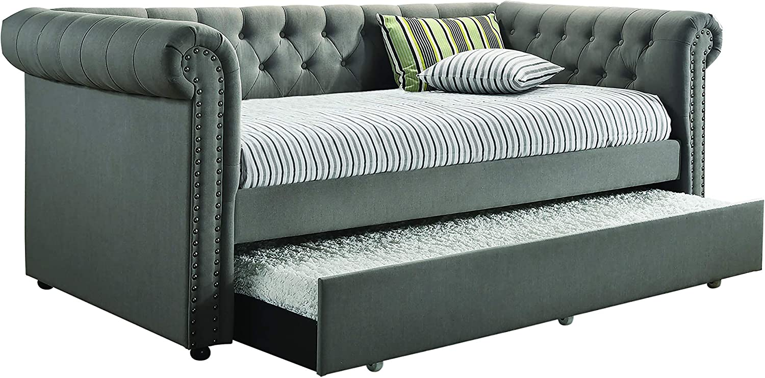 Coaster Home Furnishings CO-300549 Daybed, 95.75 x 43.25 x 37.00, Grey