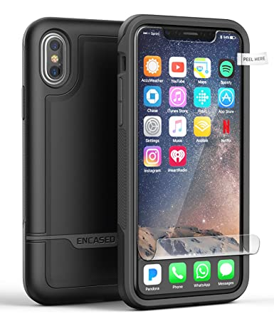 Amazon.com: iPhone X Funda rígida w/Protector de ...