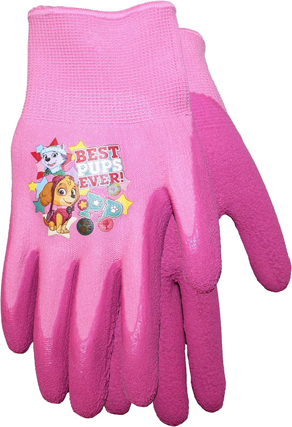 ,100/% Cotton Back w// Latex Gripping 2-pack Midwest TMNT Gripping Gloves for Kids