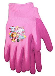 Midwest Quality Gloves Nickelodeon Paw Patrol Girls Kids Garden Gripper Glove, PWG100T, Toddler, Pink