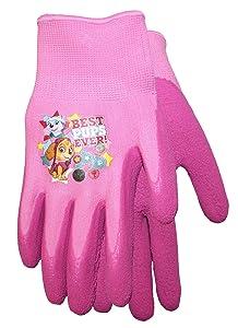 Midwest Quality Gloves Nickelodeon Paw Patrol Girls Kids Garden Gripper Glove, PWG100T, Toddler, Pink