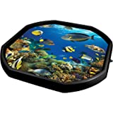Simpa® Children's Tuff Spot Play Tray Mat Insert - Fun Deep Sea Adventure Tropical Fish Icons Vinyl Tray Insert for Plastic Mixing Tray - Educational and Fun Creative Play Learning Mat.