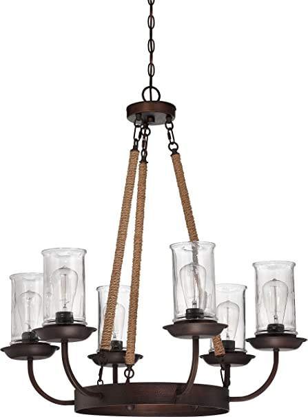 Amazon.com: Jeremiah 36126-abz Thornton 6 luz lámpara de ...