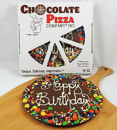 Pizza de chocolate, feliz cumpleaños, 1.43 oz, 10.0 in ...