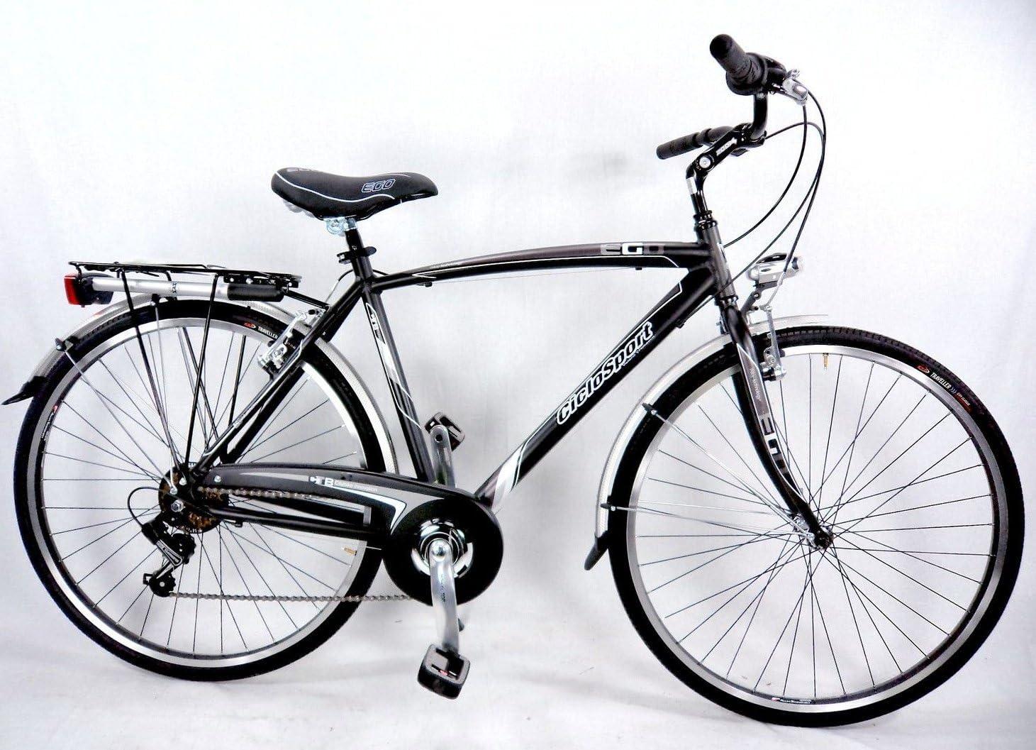 Ciclosport Bicicleta Aluminio Ego 28 City-Bike Hombre Negro ...