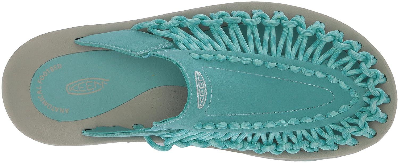 KEEN Women's Uneek Slide-w Sandal B071YDTFP3 5 B(M) US Aqua Sea/Pastel Turquoise