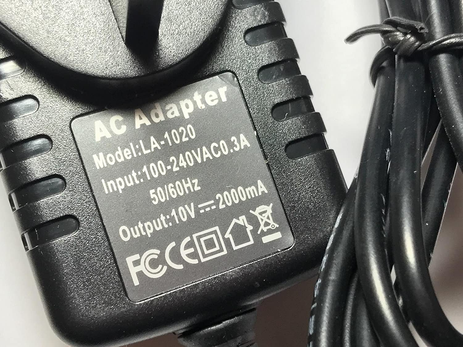 Replacement for 10V 0.2A Mains AC-DC Adaptor Power Supply for AEG DUSTBUTER