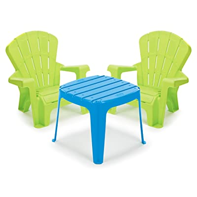 Little Tikes Garden Table and Chairs Set, Blue/Green: Toys & Games
