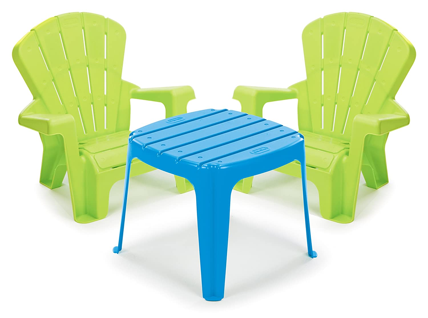 Amazoncom Little Tikes Garden Table And Chairs Set Bluegreen