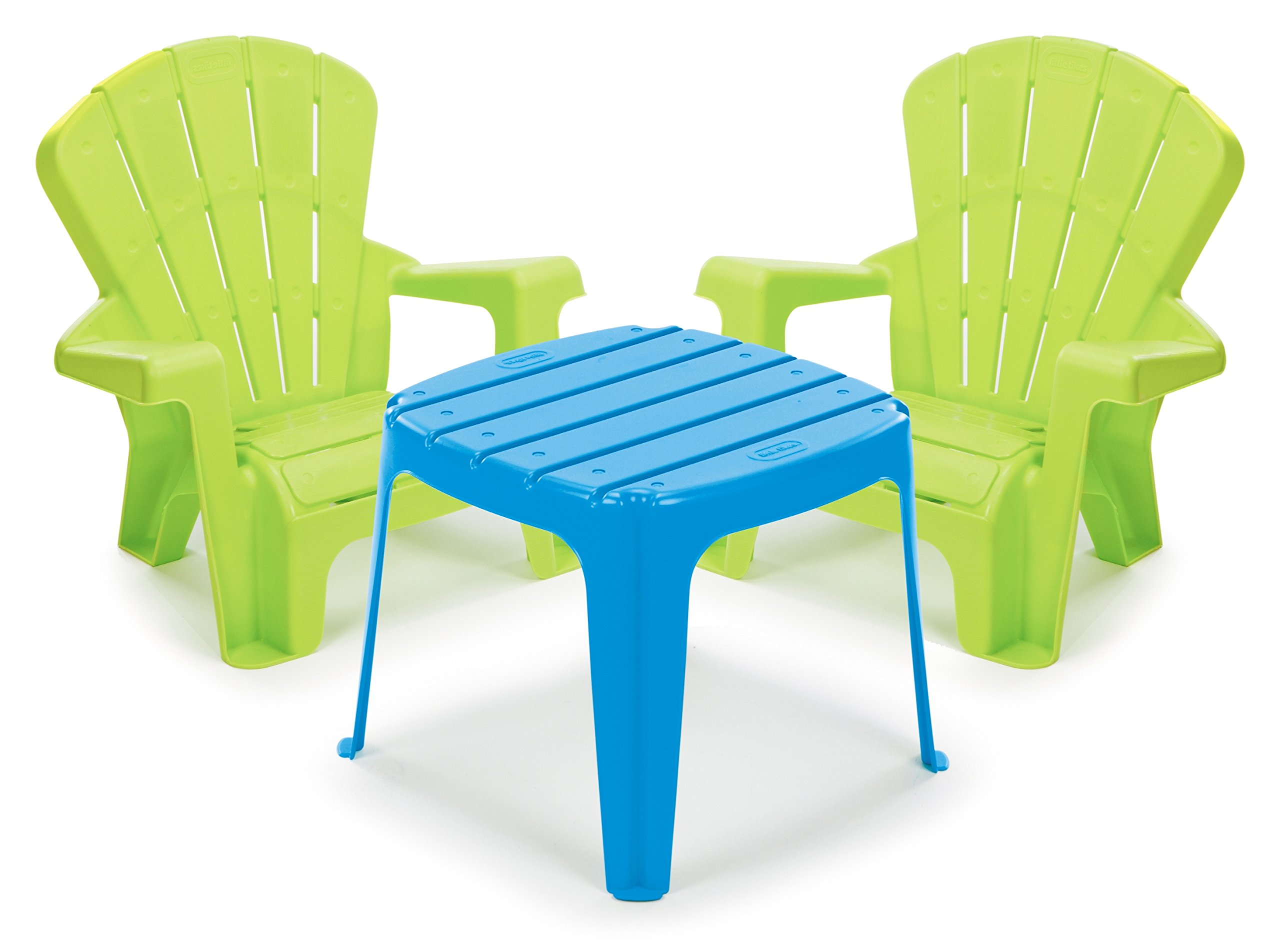 Little Tikes Garden Table and Chairs Set, Blue/Green by Little Tikes