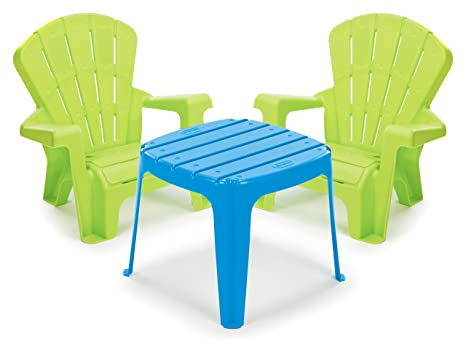 little tikes garden table and chairs set bluegreen - Little Tikes Garden Chair
