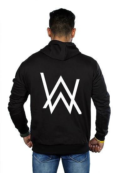 SV Trading Company Unisex Wool Allan Walker Printed Zipper Hoodie (SVHJ8 S 3b16baf79f25