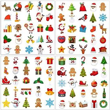 elcoho 300 pieces christmas temporary tattoos christmas themed
