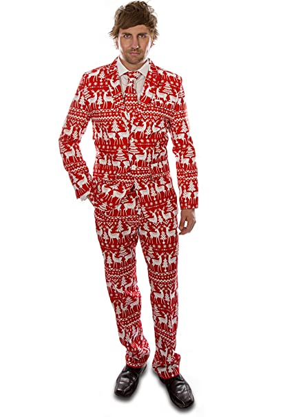 Christmas Party Suit Men.Stag Suits Mens Novelty Costume Christmas Party
