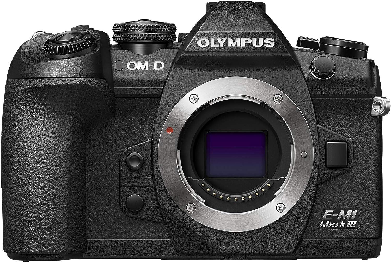Olympus OM-D E-M1 Mark III Micro Four Thirds Systeemcamera, behuizing, zwart