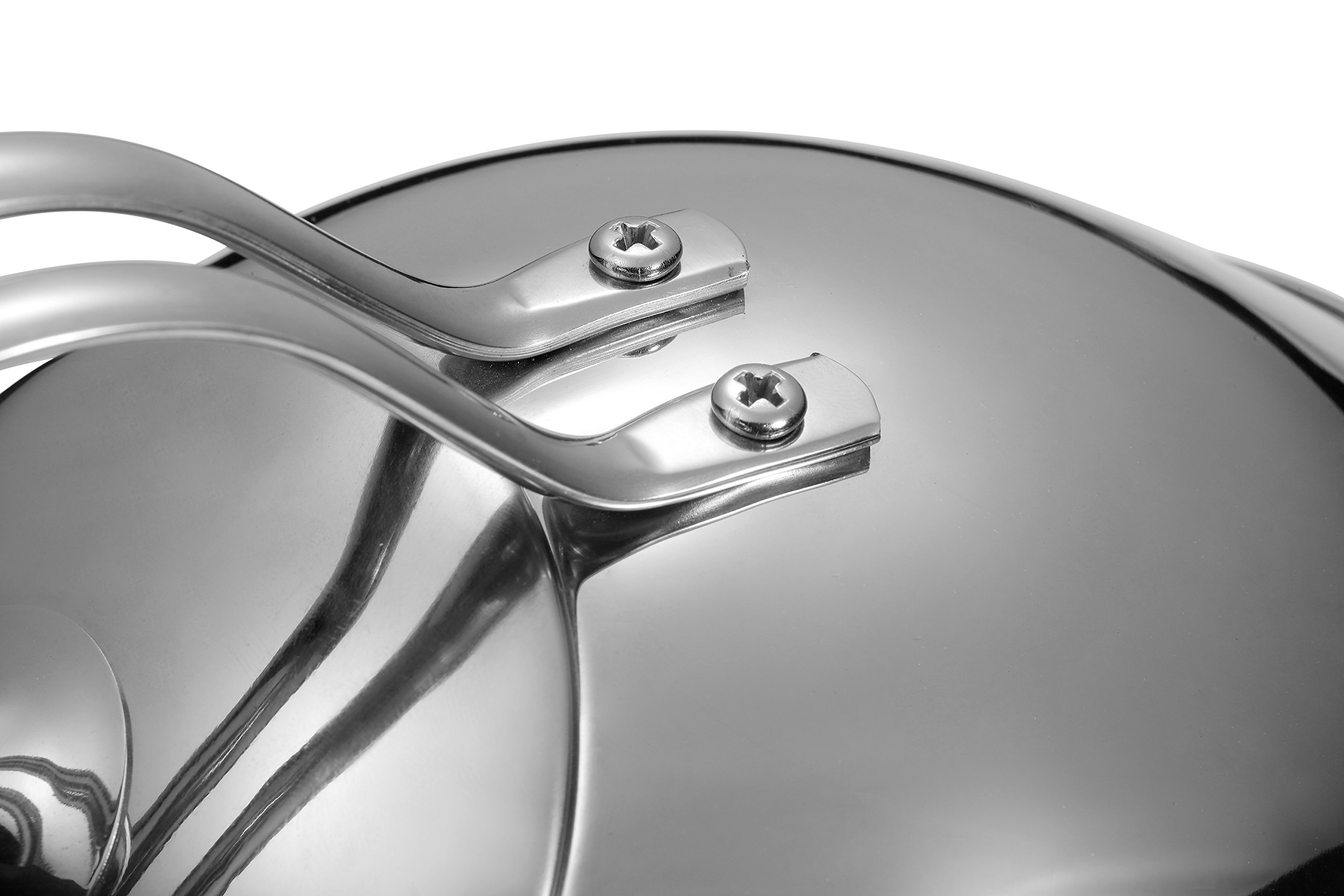 Injoy Whistling Tea Kettle 304 Stainless Steel Teapot Classic Cookware in LFGB/FDA Standard for All Stovetops - 1  Insulation Pad Included, 2.64 Quart/2.5 L, Silver by InJoy (Image #6)