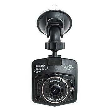 Cámara de salpicadero AkeoTechCámara de salpicadero Full HD 1080P, lente gran angular de 170°