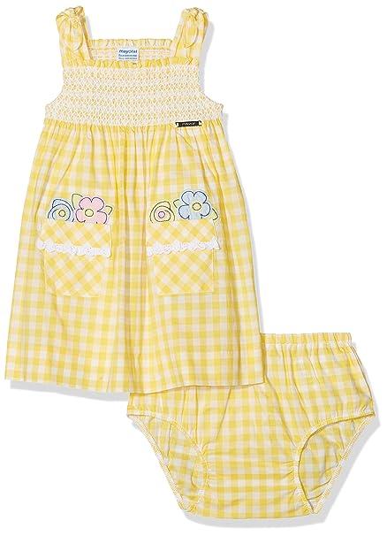 Mayoral 1954, Vestido para Niñas, Amarillo, 170 (Tamaño del Fabricante:9