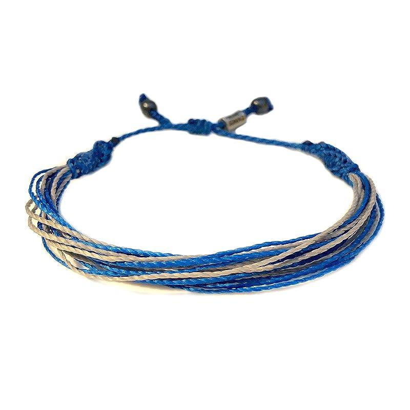 Diabetes Awareness Waterproof Adjustable Stack Bracelet Gray Bracelet